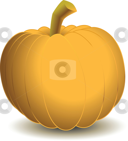 Pumpkin stock vector clipart, A vector clipart of a pumpkin. Available in AI8 EPS. by Joshua Curtis
