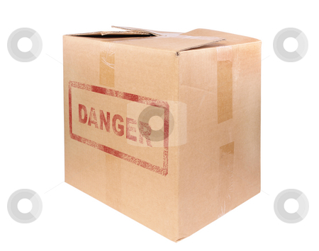 The big cardboard box stock photo, The big cardboard box isolated on white background by Salauyou Yury