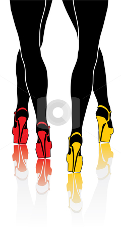 Woman legs stock vector clipart, Woman legs - vector illustration by ojal_2