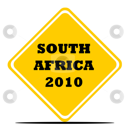 South Africa World Cup sign stock photo, South Africa 2010 World cup football or soccer sign isolated on white background. by Martin Crowdy