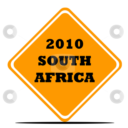 World Cup football sign stock photo, South Africa 2010 soccer or football World Cup sign isolated on white background. by Martin Crowdy