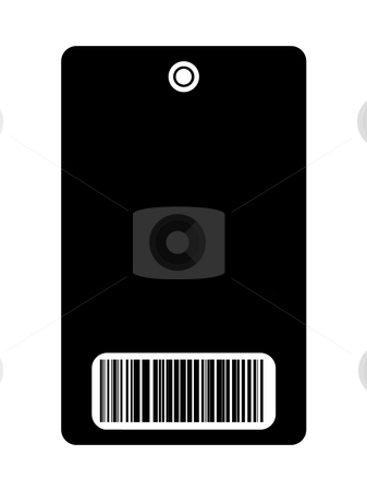 Blank pass with bar code  stock photo, Blank access pass with bar code, isolated on white background. by Martin Crowdy