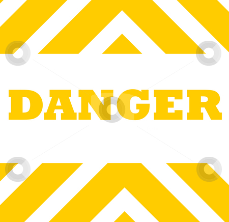 Danger warning background stock photo, Orange striped danger warning background isolated on white with copy space. by Martin Crowdy