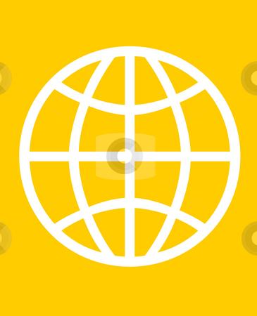 Global world symbol stock photo, Global symbol of world, isolated on orange background. by Martin Crowdy
