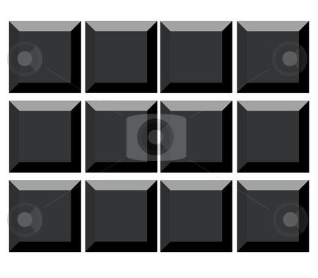 Blank computer keyboard keys stock photo, Blank black computer keyboard keys, isolated on white background. by Martin Crowdy