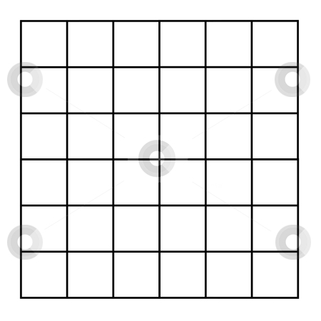 Grid of squares stock photo, Grid of blank square isolated on white background. by Martin Crowdy