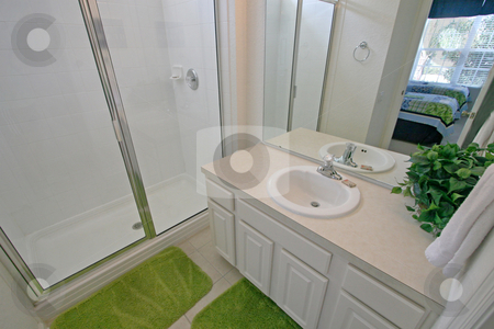 Bathroom stock photo, A Interior Shot of a Bathroom in Florida by Lucy Clark