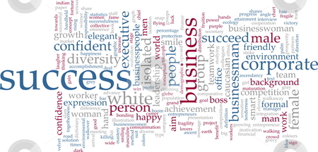 Success word cloud stock photo, Word cloud concept illustration of business success by Kheng Guan Toh