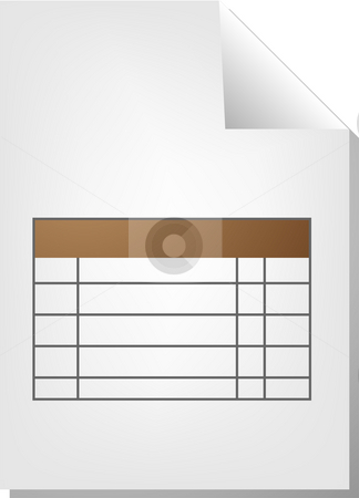 Table document icon stock photo, Table chart document file type illustration clipart by Kheng Guan Toh