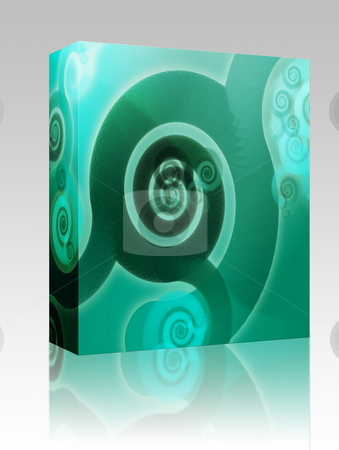Swirly spirals box package stock photo, Software package box  Abstract wallpaper background with swirly grungy spirals by Kheng Guan Toh