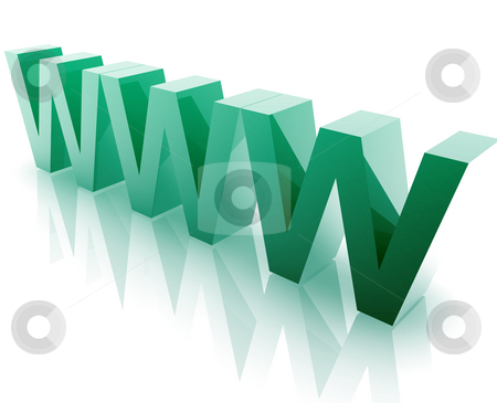 WWW Internet stock photo, WWW internet word graphic, with metal chrome style by Kheng Guan Toh
