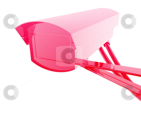 Security camera illustration stock photo, Security camera illustration glossy metal style isolated by Kheng Guan Toh