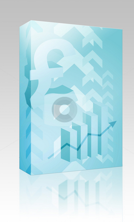 Pound success illustration box package stock photo, Software package box Abstract financial success illustration with pound currency by Kheng Guan Toh