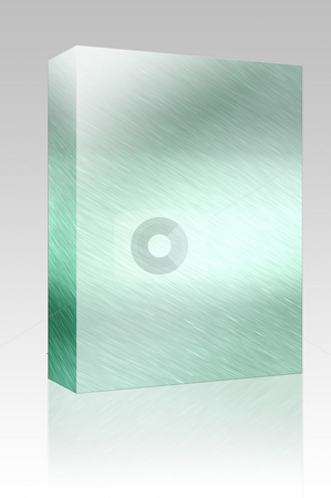 Metal texture box package stock photo, Software package box Texture background illustration of brushed glossy metal surface by Kheng Guan Toh