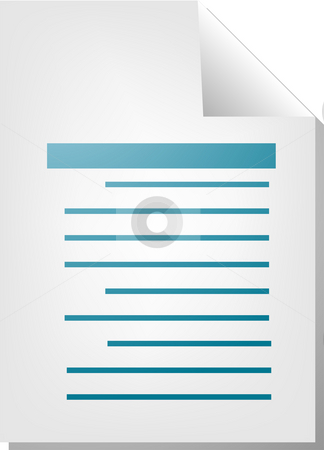 Text document icon stock photo, Text writing document file type illustration clipart by Kheng Guan Toh