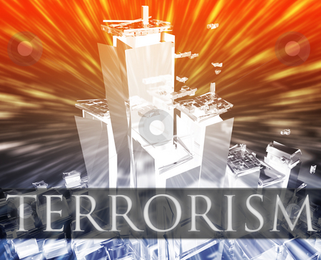 Terrorism attack stock photo, Terrorist terror attack Al Queda terrorism bombing concept illustration by Kheng Guan Toh
