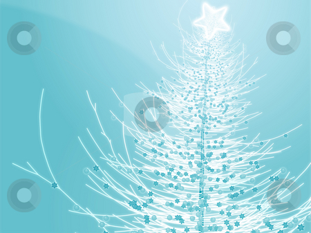 Sparkly christmas tree illustration stock photo, Sparkly christmas tree, abstract graphic design illlustration by Kheng Guan Toh
