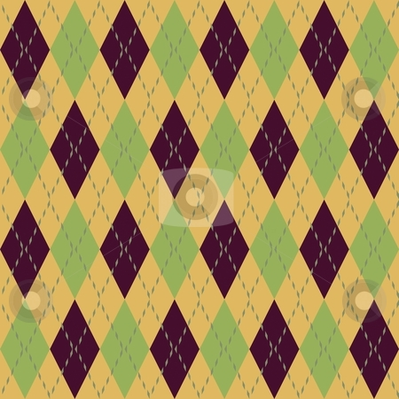 Argyle seamless pattern stock photo, Argyle knit pattern seamless tiling background texture by Kheng Guan Toh