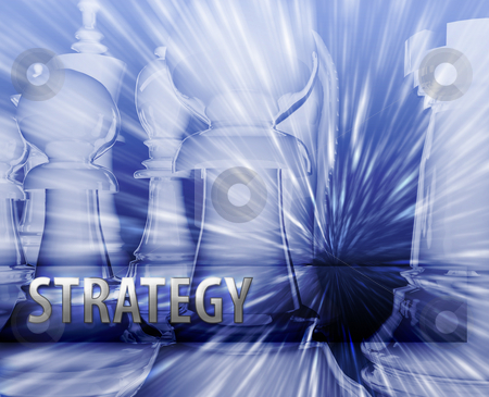 Business strategy illustration stock photo, Abstract business strategy management chess themed illustration by Kheng Guan Toh