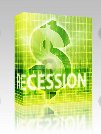 Recession Finance illustration box package stock photo, Software package box Recession Finance illustration, dollar symbol over financial design by Kheng Guan Toh