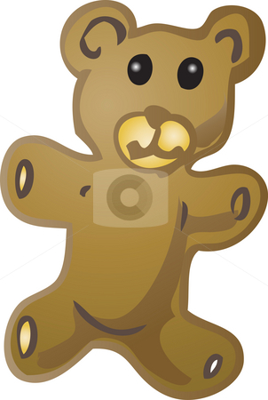 Teddy bear illustration stock photo, Teddy bear baby item illustration, hand drawn sketch by Kheng Guan Toh