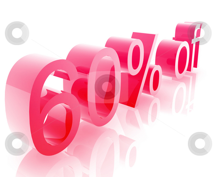 Sixty percent discount stock photo, Sixty Percent discount, retail sales promotion announcement illustration by Kheng Guan Toh