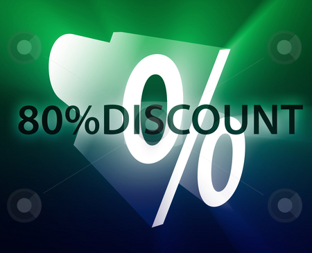 Percent Discount illustration stock photo, Eighty Percent discount, retail sales promotion announcement illustration by Kheng Guan Toh