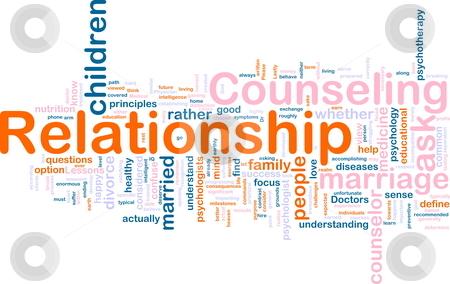 Relationship counseling stock photo, Word cloud concept illustration of  relationship counseling by Kheng Guan Toh