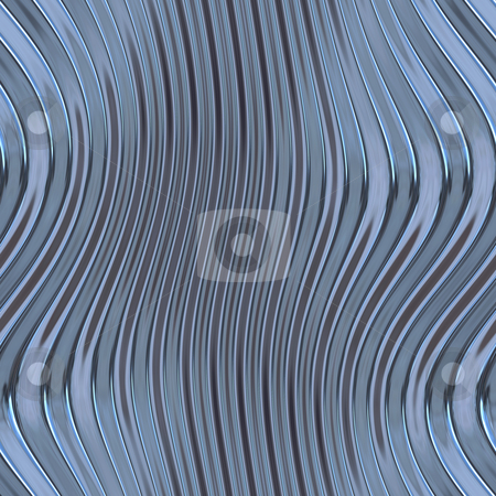 Warped metal stock photo, Warped reflective chromed metal surface texture background by Kheng Guan Toh