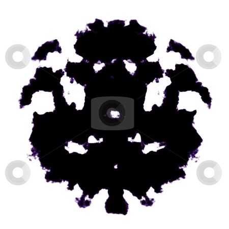 Rorschach inkblot stock photo, Rorschach inkblot test illustration, random abstract design by Kheng Guan Toh