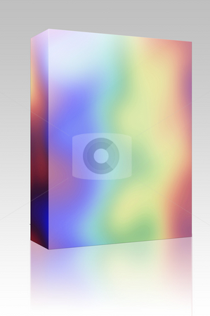 Rainbow colors box package stock photo, Software package box Abstract rainbow pattern, with psychadelic random colors by Kheng Guan Toh