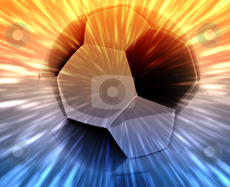 Soccer ball abstract stock photo, Shining modern soccer ball abstract wallpaper background by Kheng Guan Toh