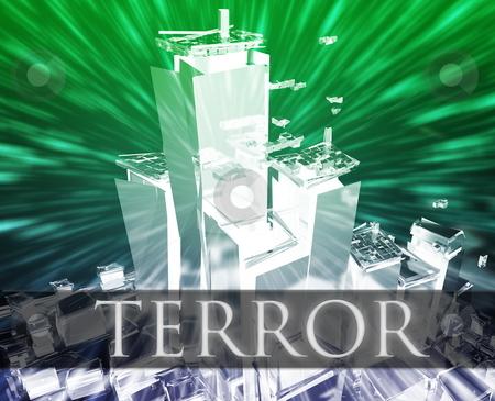 Terror terrorism stock photo, Terrorist terror attack Al Queda terrorism bombing concept illustration by Kheng Guan Toh