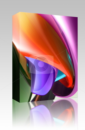 Colorful glossy abstract box package stock photo, Software package box Abstract wallpaper background illustration of smooth glossy colors by Kheng Guan Toh