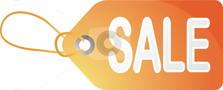 Sale tag stock photo, Sales tag label illustration with the word sale by Kheng Guan Toh