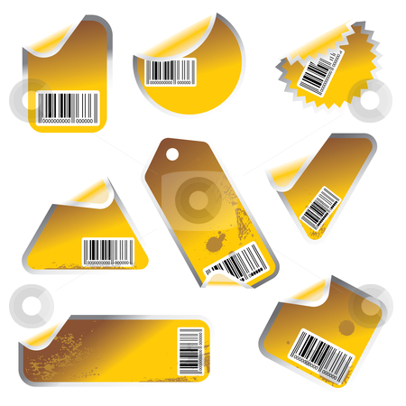 Vector stickers yellowish stock vector clipart,  by ojal_2
