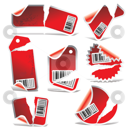 Vector stickers red stock vector clipart, Price tag vector, vector price tag, price tag, by ojal_2