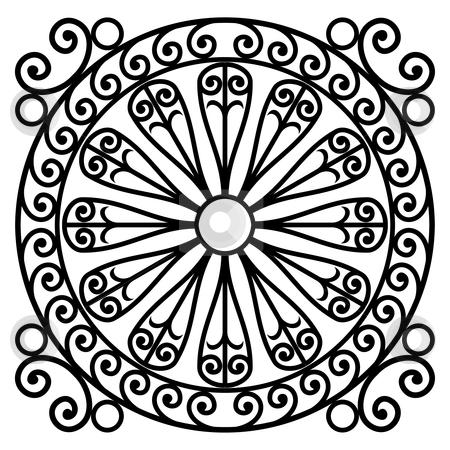 Wrought iron rosette stock vector clipart, Wrought iron rosette - vector illustration by ojal_2