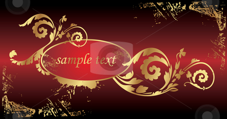 Vector floral background stock vector clipart,  by ojal_2