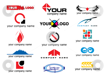 Vector logo elements stock vector clipart, Different logo elements - vector illustration by ojal_2