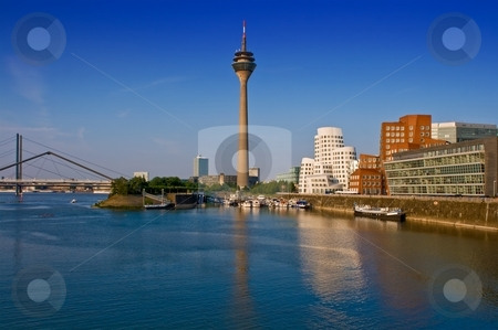 Dusseldorf Skyline stock photo, Dusseldorf Skyline by Interlight