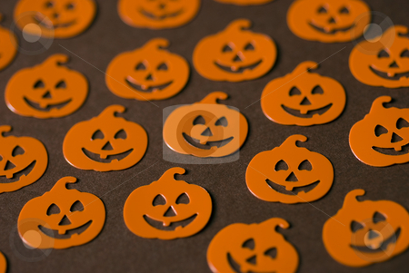 Halloween pumpkins stock photo, An array of halloween party favors by Stephen Gibson
