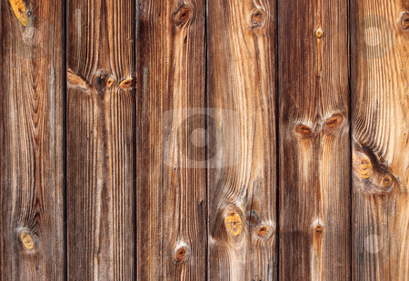 Dark brown panels in a wooden fence. stock photo, Dark brown panels in a wooden fence. by Stephen Rees