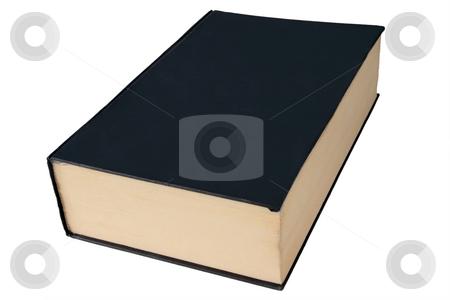 Old black large hardback book isolated on a white background. stock photo, Old black large hardback book isolated on a white background. by Stephen Rees