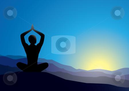 Yoga stock vector clipart,  by Aleksandr Korablin