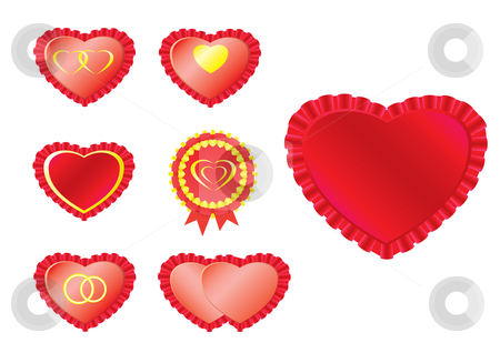 Hearts stock vector clipart,  by Aleksandr Korablin