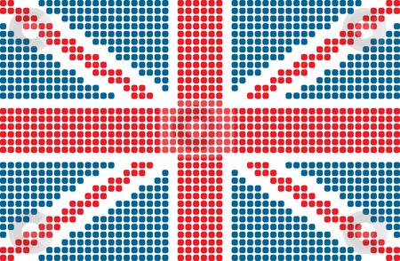Flag of United Kingdom stock vector clipart, Dotted flag of United Kingdom by ojal_2