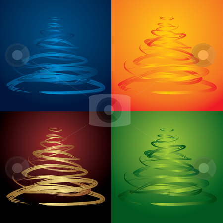 Vector christmas tree stock vector clipart, Vector christmas tree - see more in my portfolio by ojal_2