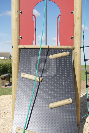 Adventure Playground Rope Climb stock photo, Royalty free stock image of a Children's Rope Climb on an adventure Playground by Paul Inkles