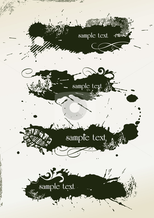 Abstract grunge banners stock vector clipart, Abstract grunge banners made from splashes - vector illustration by ojal_2